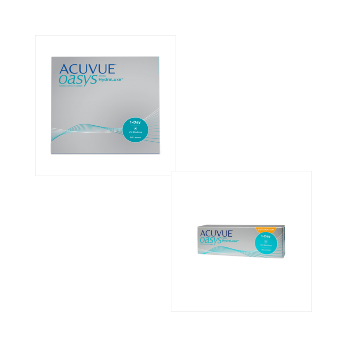 Acuvue Oasys 1 Day 90 Pack + 1-Day for Astig 30 Pack Combination