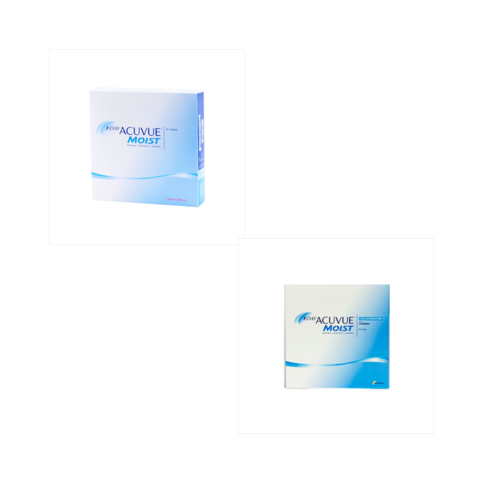 Acuvue 1 Day Moist 90 Pack + Acuvue 1 Day Moist Astig 90 Pack Combination