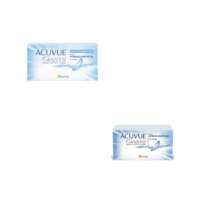 Acuvue Oasys Astigmatism + Acuvue Oasys 12 Pack Combination